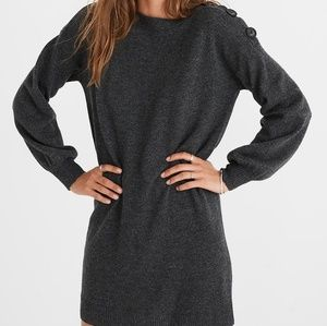 NWT Madewell Boatneck Button Shoulder Dress